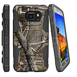 Miniturtle® Case for Galaxy S7 Active Case | SM-G891A Case [Clip Armor]-Advance Dual Layer Case, Rugged Exterior Built in Kickstand + Holster - Woods Tree Camo