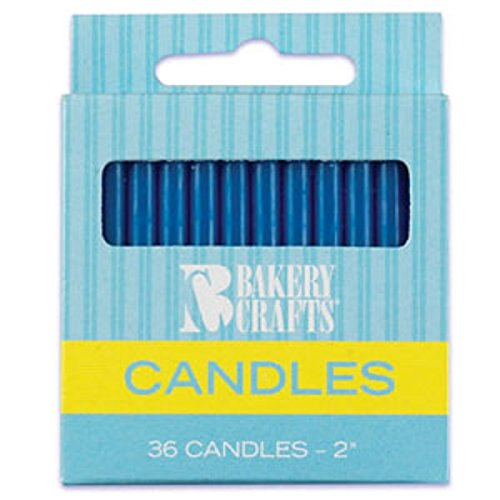 Oasis Supply Plain Birthday Candles, 2-Inch, Blue - 1