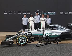 Limited Edition Lewis Hamilton Rosberg 2016 Signed Photo + Cert Formula One F1 Printed Autograph Signature Signed Signiert Autogramm by GIFTEDBOX