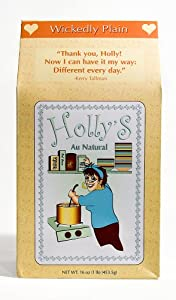 Holly's Au Natural Oatmeal, Wickedly Plain, 16-Ounce Boxes (Pack of 6)