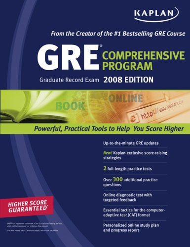 Kaplan GRE Exam 2008 Comprehensive Program