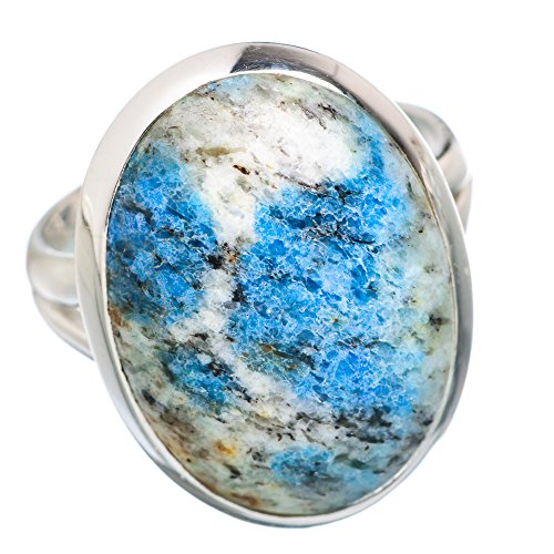 Ana Silver Co K2 Blue Azurite 925 Sterling Silver Ring Size 8 RING757890 (Azurite Ring compare prices)