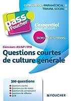 Pass'Foucher - Questions courtes Culture générale IFSI AS AP