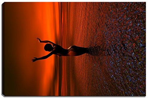 Nackte Frau im Wasser Motiv auf
