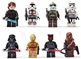 8pcs/lot Super Heroes Star Wars White Clone Soldiers Troops Minifigures Building Blocks Toys Children Gift Compatible with Lego by Alpong