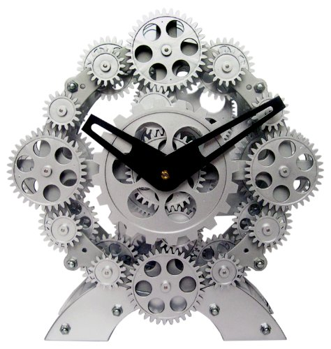 Maple's Moving Gear Table Clock, Numerous Gears (Gear Alarm Clock compare prices)
