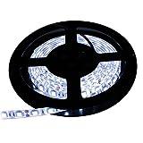 【テープ単体】 12V 両端子 5M 3チップ 防水LEDテープライト LEDイルミネーション (白色/白ベース)