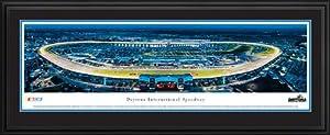 NASCAR Tracks - Daytona Intl Speedway Aerial - Night II - Framed Poster Print by Laminated Visuals