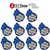 Jtech 10x T10 8-SMD Blue LED Car Lights Bulb W5W, 147, 152, 158, 159, 161, 168, 184, 192, 193, 194 2825