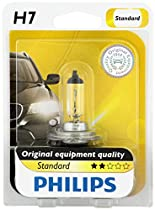 Philips H7 Standard Halogen Replacement Headlight Bulb, 1 Pack