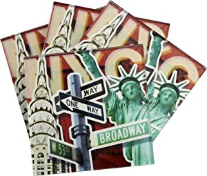 LSArts Coasters, NYC, Set of 4