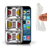 STUFF4 Gel TPU Phone Case Cover for Apple iPhone 66S Bars Design Slot Machine Collection
