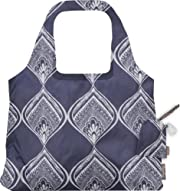 ChicoBag Reusable Bohemian Sling Shopping Tote (Peacock Bandana, Bag Handle 13.5-Inch, Bag Body 14.5-Inch x 13.5-Inch, Pouch 5-Inch x 3.5-Inch)