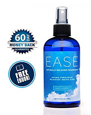 Activation Products, EASE Magnesium Spray, 250 ml, Unscented, for Joint and Muscle Pain, Leg Cramps, Eases Restless Legs + Free eBook