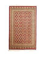 Navaei & Co. Alfombra Kashmir Beige/Rojo 151 x 92 cm