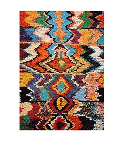 Chic Orange Teppich Marokko mehrfarbig 200 x 290 cm