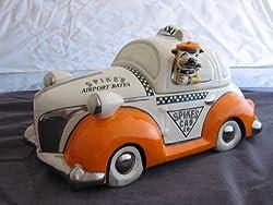 """Henry Cavanagh """"Spikes Taxi Cab"""" Cookie Jar (with Bulldog)"""