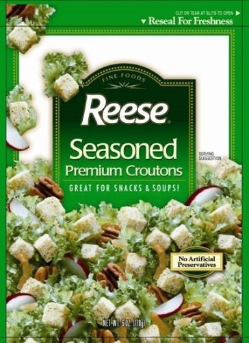 Buy Reese Croutons Seasoned Croutons, 6.0-Ounce Bags (Pack of 12) (Reese, Health & Personal Care, Products, Food & Snacks, Baking Supplies)