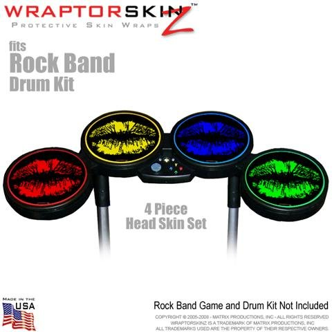 Matrix Productions, Inc.-Big Kiss Colors Skin by WraptorSkinz fits Rock Band Drum Set for Nintendo Wii, XBOX 360, PS2 & PS3 (DRUMS NOT INCLUDED)
