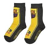 100% Official Licensed FC Barcelona FCB Socks for Boys Kids | Messi Suarez Neymar-UK 6-8 (EU 23-26)-Design 1