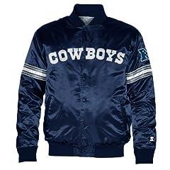 Dallas Cowboys Mens Starter Navy Snap Front Jacket by Dallas Cowboys