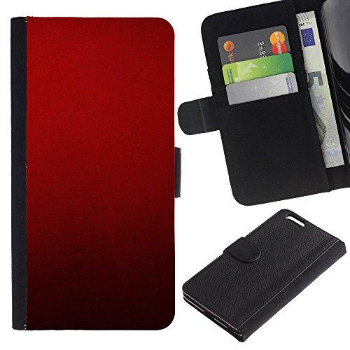 Stuss Case / Custodia In PU Pelle - Blood Deep Red Crimson Light - Apple Iphone 6 PLUS 5.5