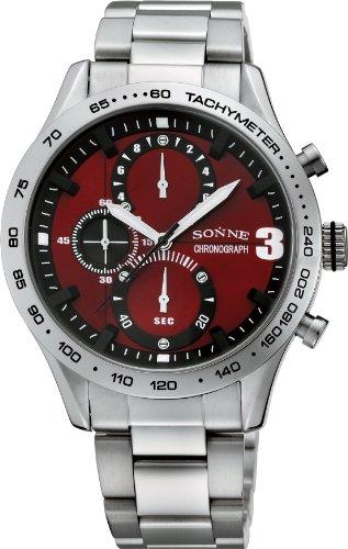 [ゾンネ]SONNE 腕時計 S138 レッド メンズ