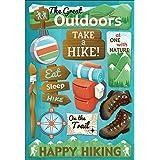 Karen Foster Design Acid and Lignin Free Scrapbooking Sticker Sheet, Take a Hike
