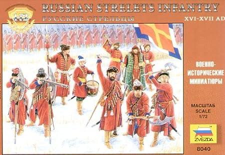 Zvezda - Z8040 - Maquette - Guerriers Strelets Russes 17E S - Echelle 1:72