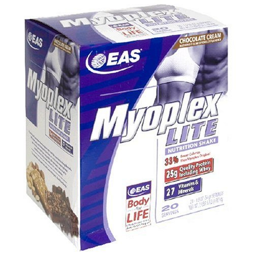 EAS Myoplex Lite Nutrition Shake, Chocolate Cream, Pack of 20