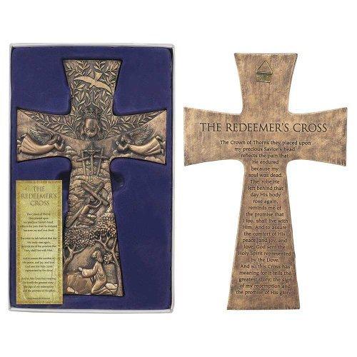 The Redeemer's Cross Resin Stoneware Wall Cross - 11.5