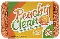 Dish Scrubber - Scratch Free Silicone Dish Scrubber With Fresh Peach Scent