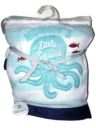 Carter's Embroidered Boa Blanket, Little Squirt - 1