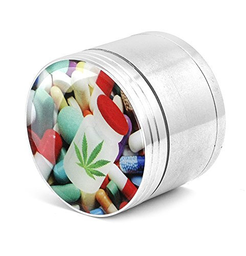 Four Piece Spice Medicinal Herb Tobacco Pollen Grinder Crusher - Pills N Weed
