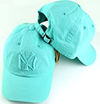 New York Yankees MLB American Needle Tonal Ballpark Slouch Cotton Twill Adjustable Hat (Seafoam Green)