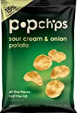 Popchips potato chips SOUR CREAM and ONION, share bag 3.5 Ounce (Pack of 12)
