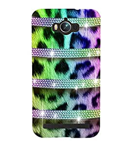 horzontal stripped multicoloured pattern 3D Hard Polycarbonate Designer Back Case Cover for Asus Zenfone Max :: Asus Zenfone Max ZC550KL