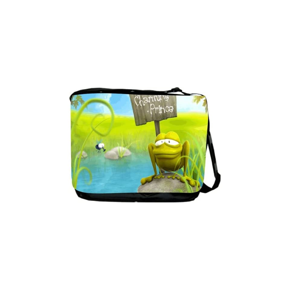 Rikki KnightTM Prince Charming Frog Messenger Bag   Book Bag   Unisex   Ideal Gift for all occassions