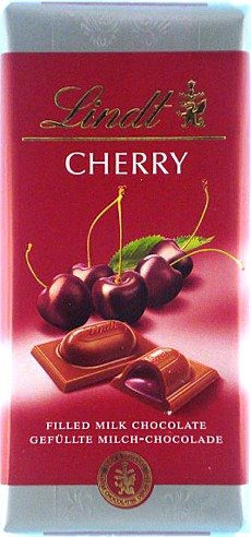 Lindt Milk Chocolate with Cherry Filling ( 100 G ) (Gourmet,Lindt,Gourmet Food,Chocolate)