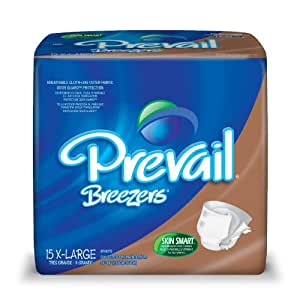 Prevail Breezers Adult Briefs, Extra Large, 15 Count