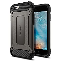 iPhone 6s Case, Spigen [Tough Armor Tech] Ultimate Shock-Absorb [Gunmetal] Dual Layer Ultimate Rugged Protection Case for iPhone 6s (2015) - Gunmetal (SGP11742)