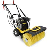 "24"" Walk Behind Sweeper Self Propelled Power Brush Broom Industrial Gas Engine"