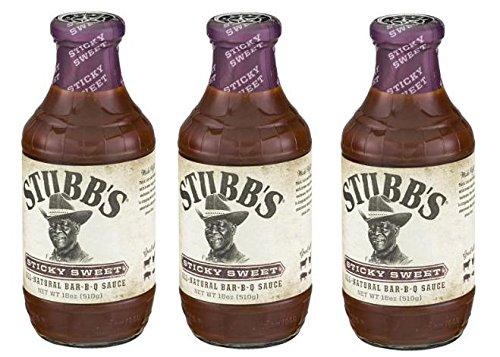 Stubb'S BBQ Sauce: Sticky Sweet (Pack Of 3) 18 Oz Jars