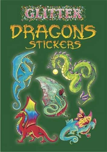 Dover Publications-Glitter Dragon Stickers