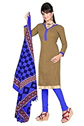 Swagpod Brown Bhagalpuri Khadi Unstitched Dress Material SWAG00275