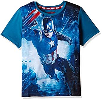 Marvel boys 39 t shirt tc3984 teal 5 6 years for Boys teal t shirt