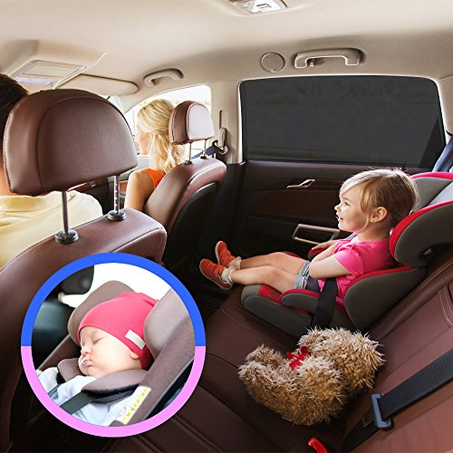 Auto Luxuria Universal Car Window SunShade Covers (w/ STRETCH-TECH) - UV Protection For Your Baby / Toddler / Kids / Pets From Strong Sun Rays Fits Cars & Most SUVs + BONUS CAR SEAT TISSUE BOX HOLDER! (Ford Focus Mk2 Accessories compare prices)