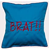 Bandbox Brat Cushion Cover - Blue ( Size:- 16 In. X 16 In.)