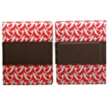 Orla Kiely Rotating Folio for iPad 2, iPad 3 & iPad with Retina Display, iPad 4 - Birdwatch Cream & Red