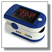 CMS 500DL Generation 2 Fingertip Pulse Oximeter Oximetry Blood Oxygen Saturation Monitor with silicon cover, batteries and lanyard (Blue)